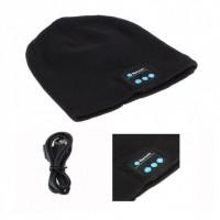 Портативная колонка ШАПКА с bluetooth наушниками SPS Hat BT True. Цвет: черный
