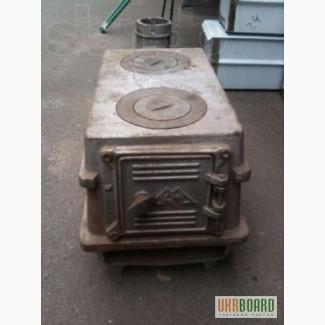 Чугунная печь (печка) буржуйка на 2 конфорки с трубой.Разборная.Новая.
