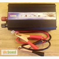 Инвертор (преобразователь) TBE 1200W + USB с 12В в 220В