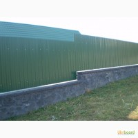 Профнастил зелённый недорого купить, 6005 цвет профильного листа. Недорого