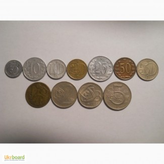 Монеты Чехословакии (11 штук)
