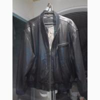 Продам кожаную куртку бомбер пилот Trapper, плащ пальто военный винтаж кожа новый