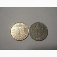 Бельгия-5 франков (2 разные)