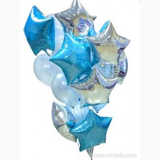 Фотозона из воздушных шариков на Новый год, фольгированные шары-цифры 2018
