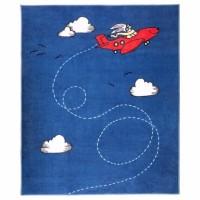 Прикольный детский синий ковер с коротким ворсом (новый) ИКЕА