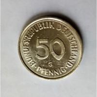 Монета.Страна Федеративная Республика Германия, 50 пфенниг 1992