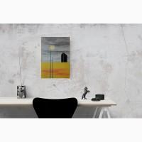 Картина масляными красками Черный обелиск. Абстракция