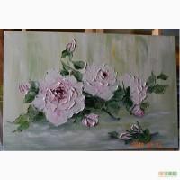 Картина маслом Троянди