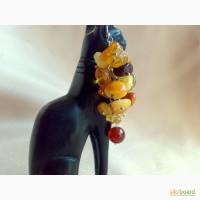 Серьги из натурального янтаря