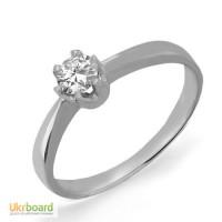 Золотое кольцо с бриллиантом 0,25 карат 16 мм. НОВОЕ (Код: 13051) Есть и в желтом золоте!