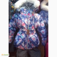 Детские зимние комбинезоны-тройка Одуванчики для девочек 1-5 лет