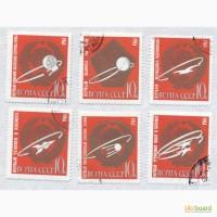 Почтовые марки СССР 1963. 6 марок Первые в космосе