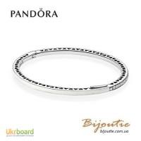 Pandora браслет жесткий сияющие сердца 590537EN23