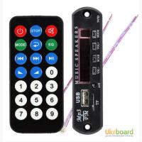 Модуль MP3 декодер 5/12в, проигрыватель USB, TF, microSD, AUX, FM