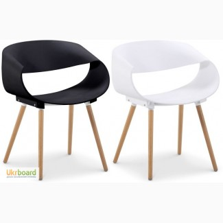 Кресло Стул Берта белый чёрный пластик