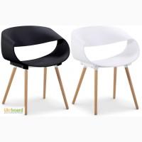 Кресло Стул Берта желтый белый чёрный пластик