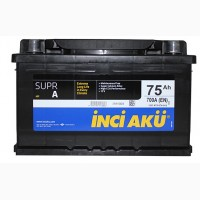 Продам аккумуляторы Inci Aku 75 Ач (Турция)-лучшее соотношение цена-качество!Гарантия