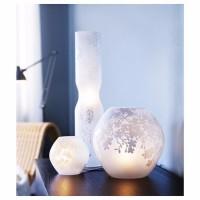 Модная лампа настольная, цветы вишни, матовое стекло белый(новая) ИКЕА