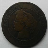 Франция 10 сантимов 1880
