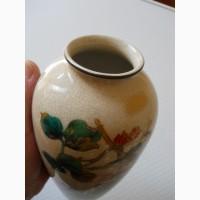 """Старинная Японская ваза для цветов """"Сатсума"""" (Satsuma)"""