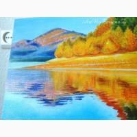 Картина Осень пейзаж масляная живопись на холсте
