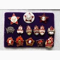 Коллекционер покупает значки СССР