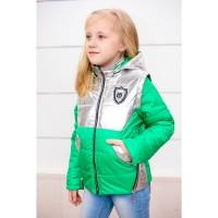 Детские демисезонные куртки - жилетки Беата с фольгой девочкам 6-11 лет, цвета разные