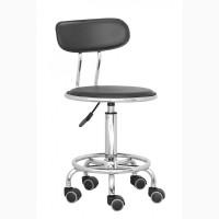 Офисные стулья на колесиках офисный стул Бэйсик на колесах цвет черный белый