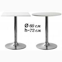 Ивент столы для кафе столовых круглый стол Азор 60см квадратный белый Бесплатно доставка
