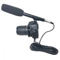 Профессиональный конденсаторный микрофон-пушка фото и видеокамер