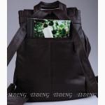 Продается кожаный рюкзак унисекс, темно-коричневый, олдскул-дизайн