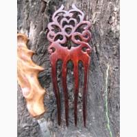 Продам деревянные гребни, расчески вырезанные из корней редких пород