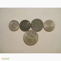 Монеты Австрии (5 штук)