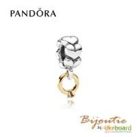 Оригинал шарм-подвеска PANDORA 8213; обручальное кольцо 790999D