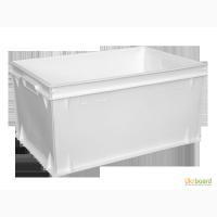 Пищевой пластиковый ящик 600х400х300 контейнер литой