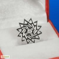 Брошь-значок серебряный - звезда Эрцгаммы.Повышает имидж.Приносит удачу.Диам 1.5см