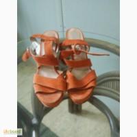 Босоножки женские оранжевые Натуральная замша, Pier One б/у