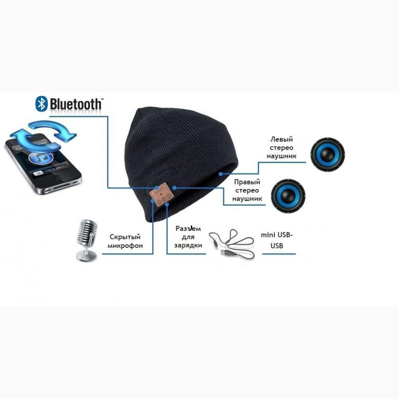 Фото 3. Шапка с Bluetooth наушниками Bluetooth Music Hat (беспроводные наушники)