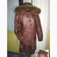 Стильная женская кожаная куртка с капюшоном. Германия. Лот 57