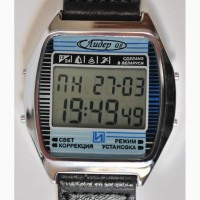 Часы ЭЛЕКТРОНИКА ЧН-03 с АЦНХ (5 будильников, 5 мелодий) арт.1154