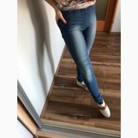 Осенние джинсы на резинке skinny