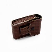 Чехол, портсигар из эко-кожи для пачки сигарет 6-0850
