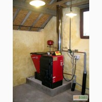 Монтаж твердотопливного котла с обвязкой до 50 кВт, сварочные работы