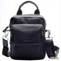 Продается компактная мужская кожаная сумка - барсетка на руку, ...