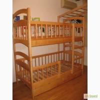 Двухъярусная кровать Карина Люкс Усиленная с ящиками и матрасами. В наличии