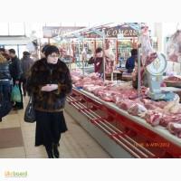 Холодильные прилавки.Торговый прилавок мясной на рынок модели с вешалом(крюком для мяса)
