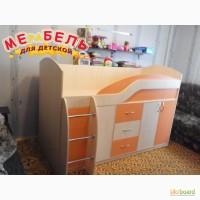 Детская кровать с ящиками и тумбами (д20) Merabel