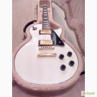 Электрогитара Электрогитара Gibson LP Custom White Alpine Ebony