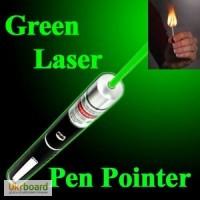 Цена.Green Laser Pointer зеленая лазерная указка Грин Лазер Пойнтер + 5 насадок