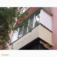 Балкон ремонт под ключ видео. Окна Rehau коричневые. Кривой Рог